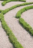 Topiary labyrint royalty-vrije stock fotografie