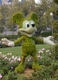 Topiary Mickey Mouse Stock Afbeelding