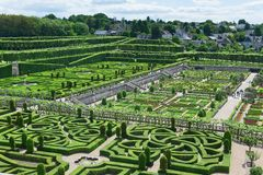 Topiary in Villandry castle, France Royalty Free Stock Photo