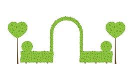 Topiaryhochzeitsbogen lizenzfreie abbildung