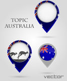 Topic australia Map Marker Stock Photography