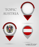 Topic austria Map Marker Stock Images