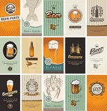 Topic of beer. Set of business cards on the topic of beer Royalty Free Stock Photos