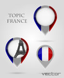Topic France Map Marker Royalty Free Stock Images