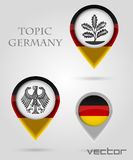 Topic Germany Map Marker Royalty Free Stock Photography