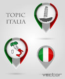 Topic ITALIA Map Marker Royalty Free Stock Images