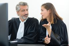 Topic lawyers. The topic of the lawyers Stock Photography