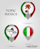 Topic mexica Map Marker Royalty Free Stock Photography