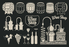 Topic of wine production Stock Photo