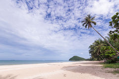 The topical beach. With huge cloud in the sky Royalty Free Stock Photography