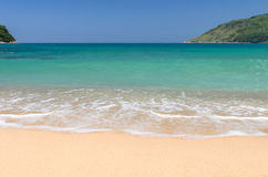 Topical beach and sea at phuket. A beautiful beach in phuket, Thailand Stock Image