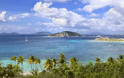 Topical islands. Beautiful view of the British Virgin Islands Royalty Free Stock Photo
