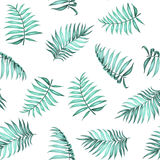 Topical palm leaves pattern. royalty free illustration