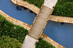 Topical resort. Resort holiday, or bridges to cross Royalty Free Stock Image