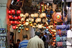 Topical Turkish lights. Istanbul bazaar Stock Photo