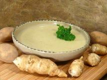 Topinambur-Suppe Stockbilder