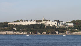 Topkapi宫殿在伊斯坦布尔市 免版税库存照片