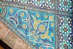 Topkapi宫殿马赛克装饰在土耳其,伊斯坦布尔 库存图片