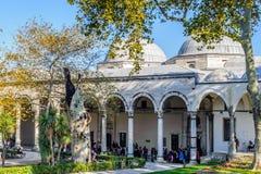Topkapi宫殿,无背长椅苏丹的主要住所,是 免版税库存照片