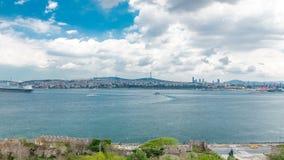 从Topkapi宫殿timelapse的伊斯坦布尔和Bosphorus视图 街市视图 旅行土耳其 股票视频