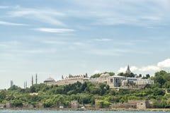 Topkapi pałac i Sarayburnu, Istanbuł, Turcja zdjęcia stock