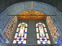 Topkapi pałac wnętrze, Istanbuł, Turcja obraz stock