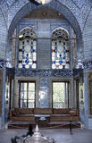 Topkapi palace. Topkapi, Sultan Palace in Istanbul, Turkey, showing stained-glass windows, blue ceramics and sufi inscriptions stock photography