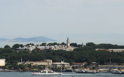 Topkapi palace. And istanbul boporus Royalty Free Stock Photos