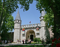 Topkapi Palace. The middle gate (gate of greeting), Topkapi Palace, Istanbul, Turkey royalty free stock images