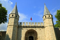 Topkapi Palace, entrance gate, Istanbul Stock Photography
