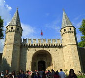 Topkapi Palace, entrance gate, Istanbul Royalty Free Stock Photo