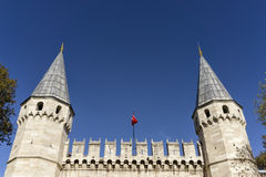 Topkapi Palace Entrance, Istanbul, Turkey Royalty Free Stock Image