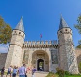 Topkapi Palace The Gate of Salutation, Istanbul Royalty Free Stock Photography