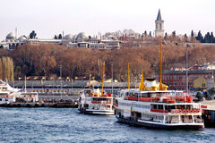 Topkapi Palace from harbor Royalty Free Stock Photo