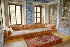 Topkapi Palace Interior, Istanbul, Turkey stock photo