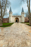 Topkapi palace, istanbul. Entrance of the Topkapi palace, istanbul royalty free stock photography
