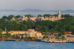 Topkapi Palace Istanbul. Topkapi Palace, Istanbul, Turkey as seen from Galata Tower stock photography