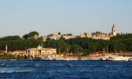 Topkapi Palace in Istanbul and Golden Horn Stock Photography