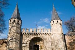 Topkapi Palace, Istanbul, Turkey. The middle gate (gate of greeting), Topkapi Palace, Istanbul, Turkey Royalty Free Stock Photo