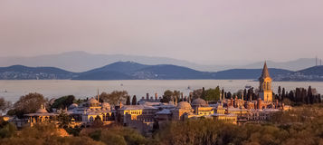 Topkapi palace in istanbul,Turkey. View of topkapi palace in istanbul,Turkey Stock Photography