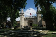 Topkapi Palace Museum in Istanbul - The Gate of Salutation is the Main Entrance stock photo