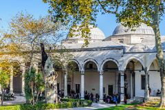 Topkapi Palace, the primary residence of the Ottoman Sultans, Is Royalty Free Stock Photos