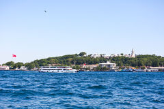 Topkapi palace from the sea Royalty Free Stock Photo