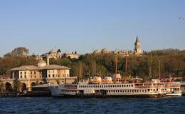 Topkapi Palace at sunset, istanbul stock photo