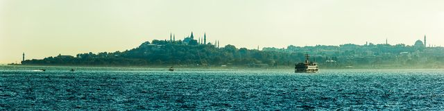 Topkapi panorama Royalty Free Stock Images