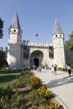 Topkapi slott i Istanbul, Turkiet Royaltyfria Bilder
