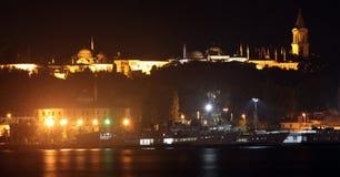 topkapi παλατιών νύχτας της Κωνσ&tau Στοκ Εικόνα