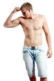 Topless athletic man Royalty Free Stock Images