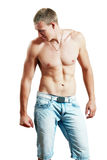 Topless athletic man Royalty Free Stock Photo