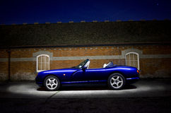 Topless classic sports car Royalty Free Stock Photo